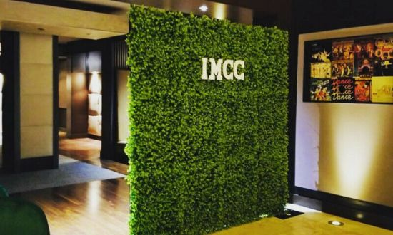 Green Grass Wall Corporate Party