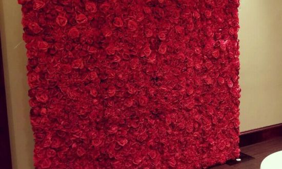 Wedding Red Rose Flower Wall Backdrop